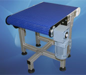 41. Modulaire kettingtransporteur met Flush Grid ketting