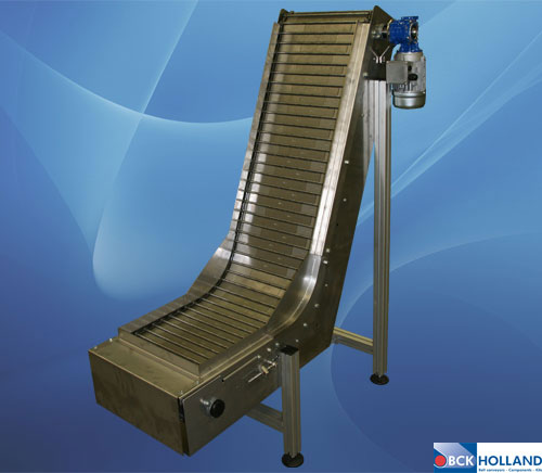 Photos Chain Conveyors With Hinged Steel Belts Bck